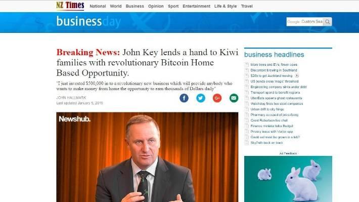 Fake news site uses John Key image to endorse Bitcoin | Stuff co nz
