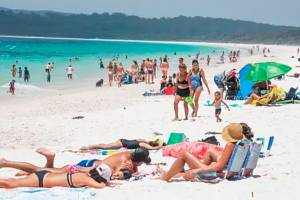 Hyams Beach has been promoted as having some of the world's whitest sand, but has become a victim of its own success.
