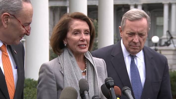 US Speaker of the House Nancy Pelosi and Senator Chuck Schumer say President Donald Trump just got up and walked out on their negotiation