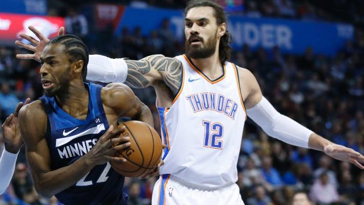 Steven Adams says there was no malice from Andrew Wiggins left in the collision that knocked out Nerlens Noel