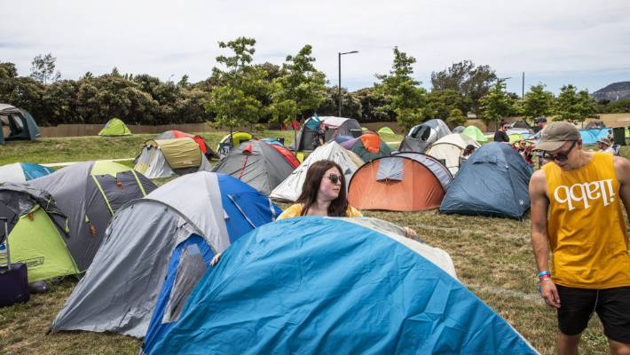 C&ers set up their tents for the first Bay Dreams event in Nelson with a & New Zealandu0027s disposable summer: low-cost camping gear that doesnu0027t ...