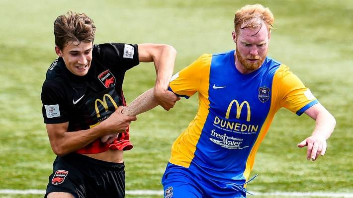 Southern United defender Stephen Last, right, says it is 'difficult' to hear Kiwis being critical of players from overseas but is determined to win them over.