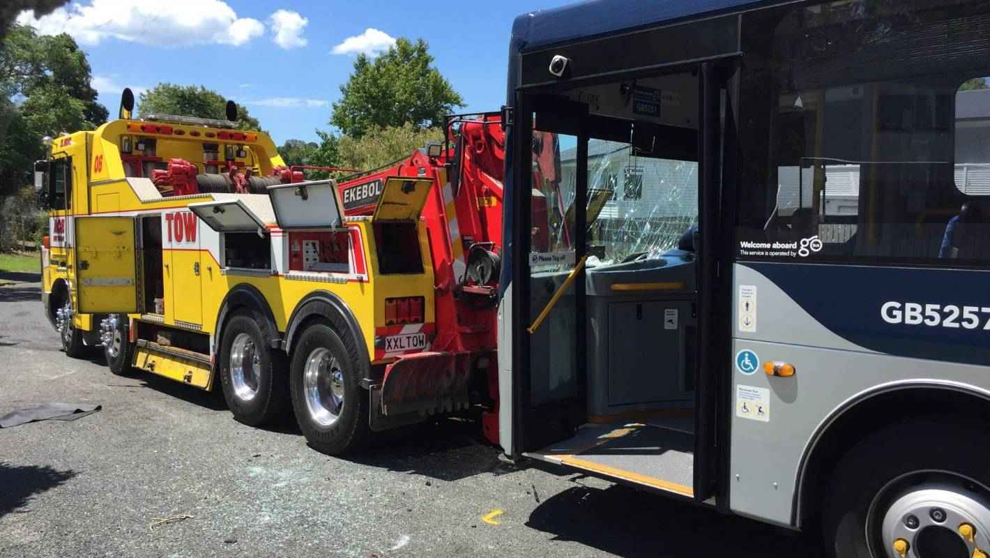 Speed 'a factor' in Auckland car and bus crash that left one dead, several injured
