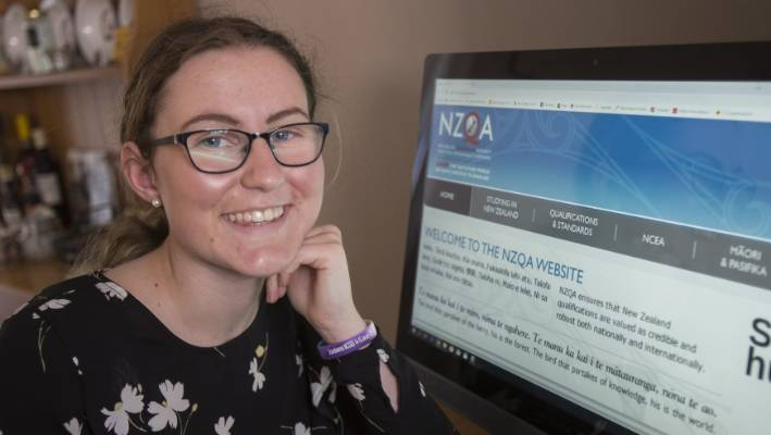 Georgia Carnegie, 18, will be logging on to find out her NCEA results as soon as she gets up on Tuesday morning.