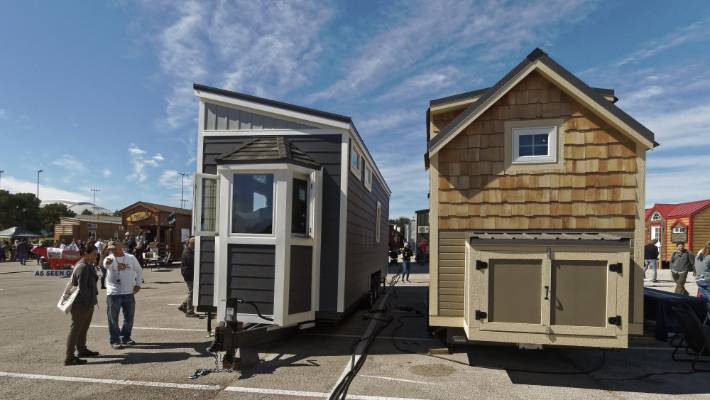 Tiny homes typically measure 25-30 square metres and are often built with wheels and chassis.