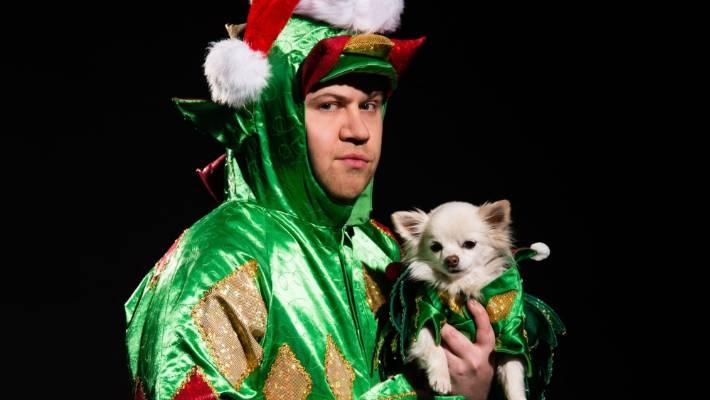 Piff the Magic Dragon and his chihuahua sidekick Mr Piffles.