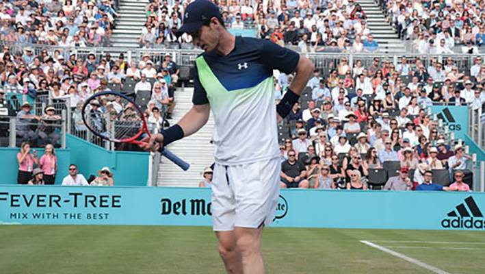 Andy Murray clutches his hip at Queen's in 2018, it has hampered him ever since and hastened his retirement.