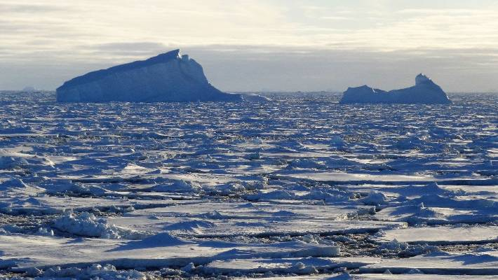 Rising sea levels are putting the Antarctic ice sheet under threat