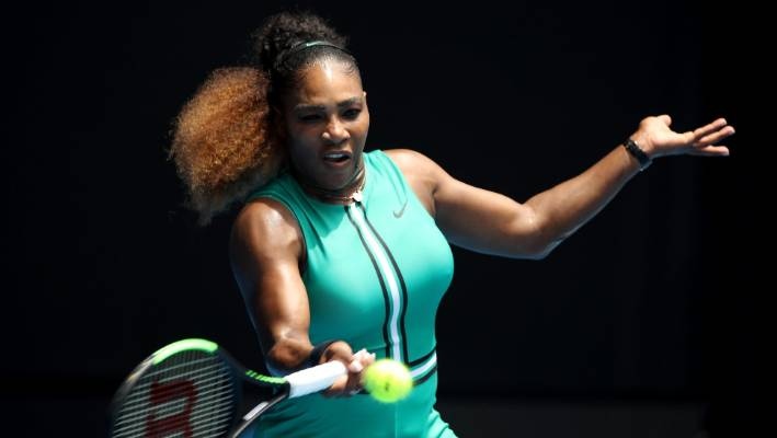 Serena Williams Dominates Australian Open With Green Romper, Fishnet Tights