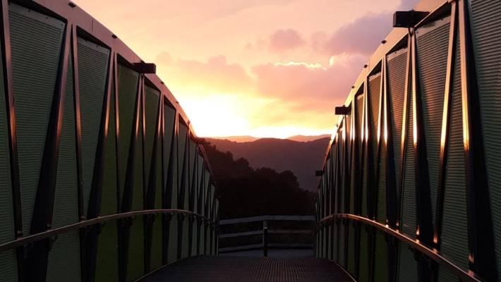 The overbridge at the top of the Wainuiomata hill.