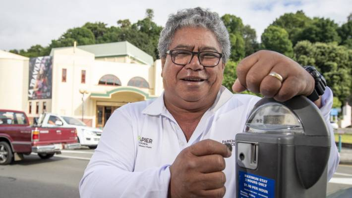 Kani Panapa says that Napier's parking guards do not do as much abuse as those in Wellington and Hamilton.