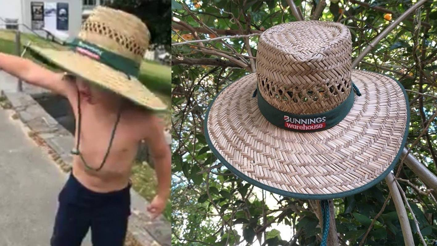 Infamous travelling family's Bunnings hat up for auction
