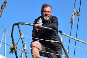 Dan Bishop on board Maya at a Wellinton marina 17.1.19
