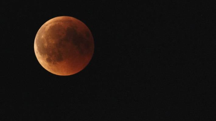 Super moon, a total Lunar eclipse and bright planets
