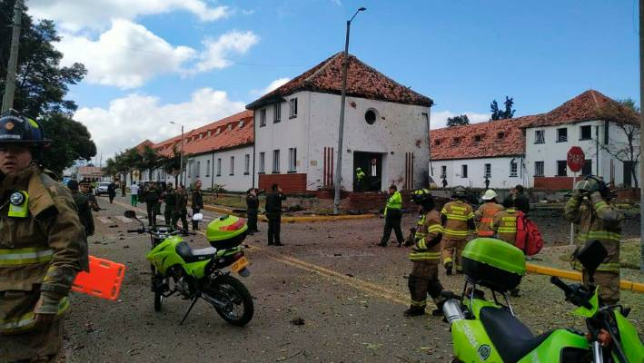 Nine killed, 24 injured in vehicle bomb at Colombian police academy