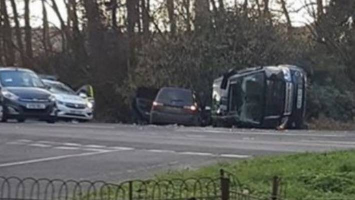 Prince Philip in vehicle crash near Sandringham