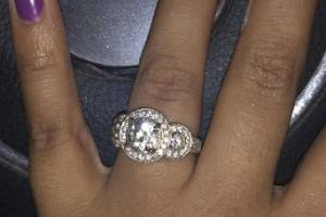 """The ring, given to her by her boyfriend of 10 years, was a family heirloom, but nothing like the """"blingy"""" ring she asked for."""