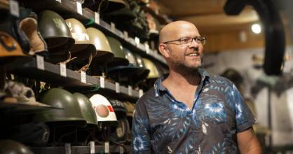 Andy Wickens' militaria collection is on display in a private museum which he calls 'Das Bunker Kapiti' below his home ...