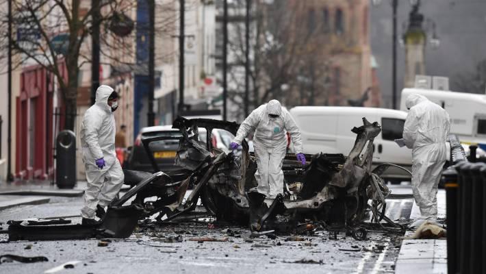 Derry auto bomb: Fireball explosion captured on CCTV