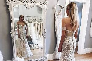 """The Pallas Haute Couture """"Camille gown"""" looks similar to the design Hannah Laity chose."""
