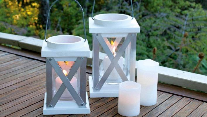 Diy Project Outdoor Candle Lantern Stuff Co Nz