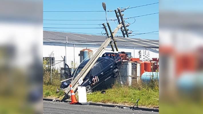 Street sprint crash brings powerlines down cutting supply to 1200