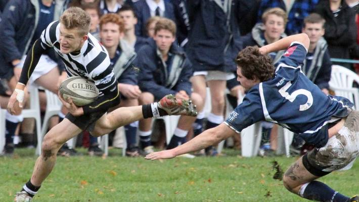 Future All Black Damian Mackenzie, left, was a pupil at the College of Christ in Christchurch.