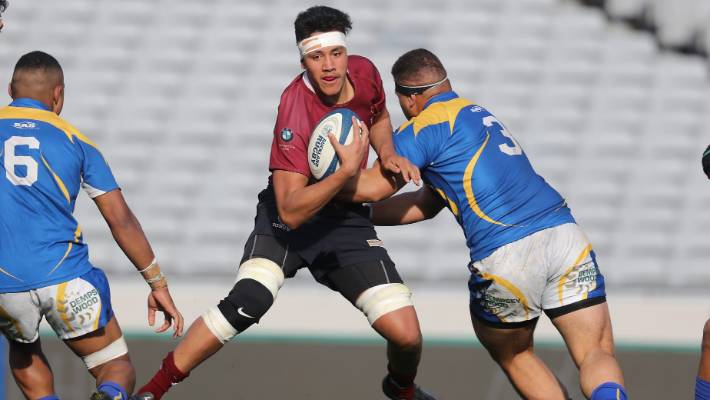 Isaiah Mapusua of the Royal College was resolved during the Oakland First XV1A Rugby Finals School against St. Peter's College in Eden Park last year.