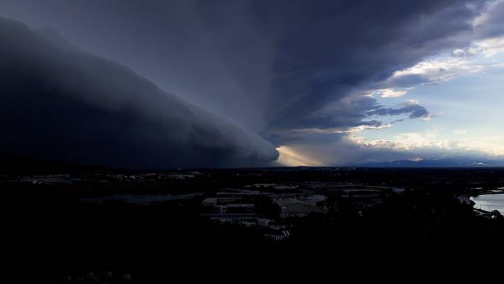 The storm over Christchurch.
