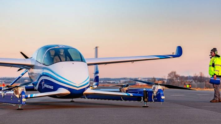 Boeing's autonomous flying taxi completes its first flight
