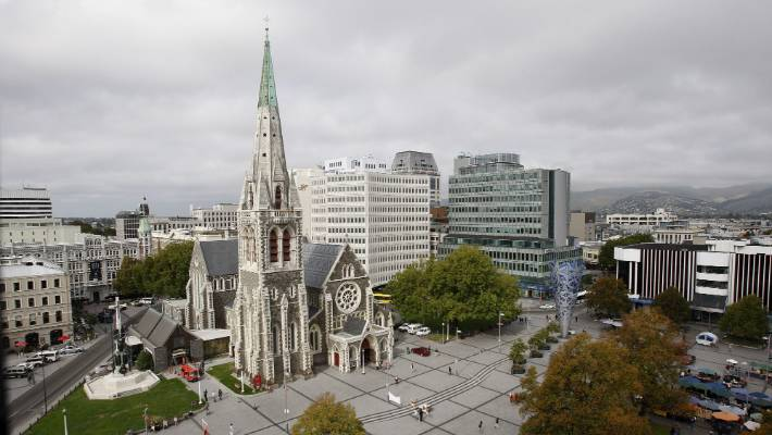The cathedral before the 2010 and 2011 Canterbury earthquakes.