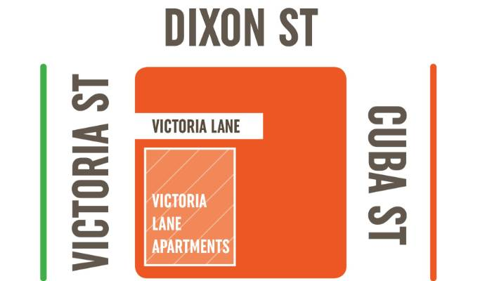 The apartments will be accessed through a new laneway.