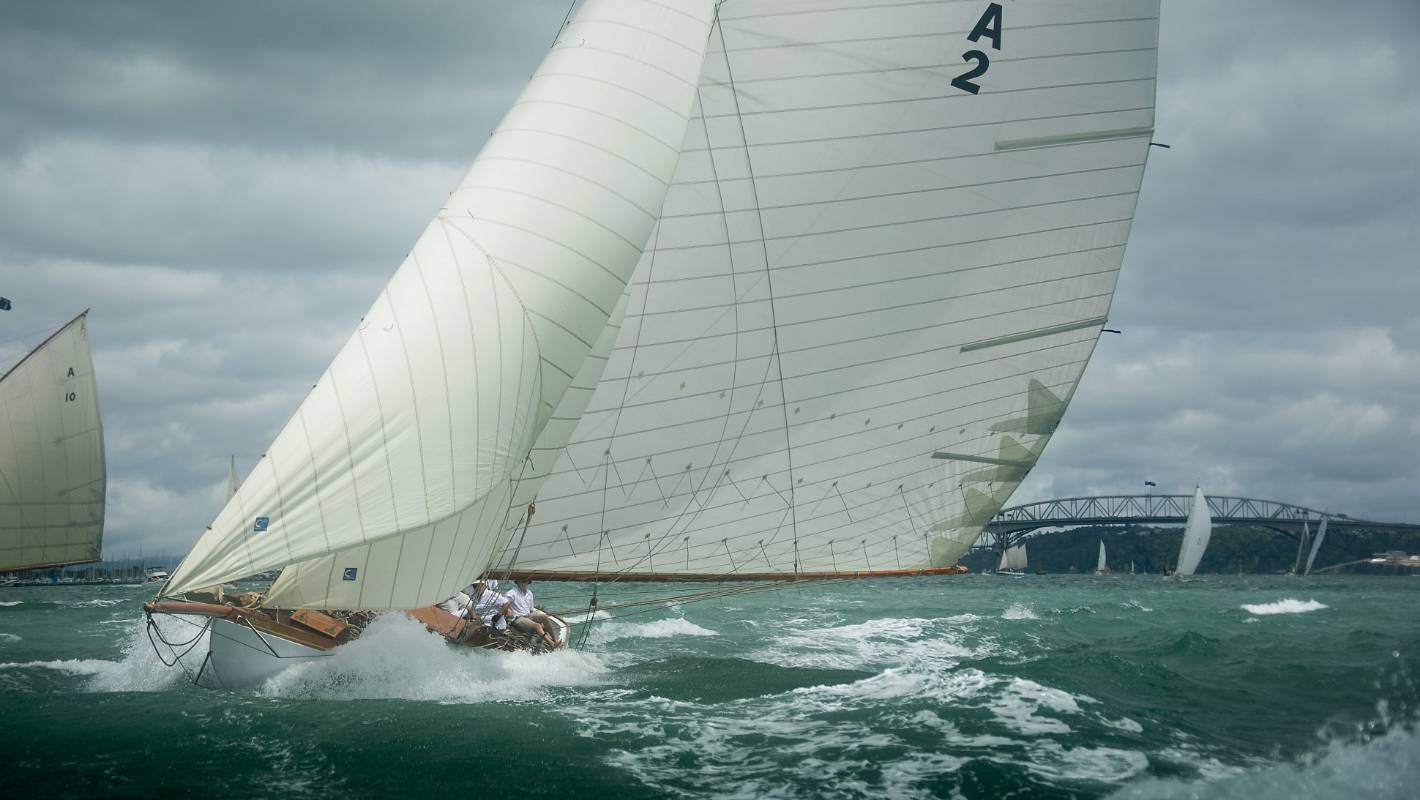 Vintage yachts take to Auckland harbour in Anniversary Day regatta