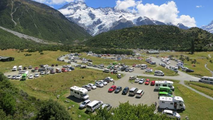 Aoraki/Mt Cook National Park is a hotbed for tourists, especially at the height of summer, with hundreds of thousands visiting the park.