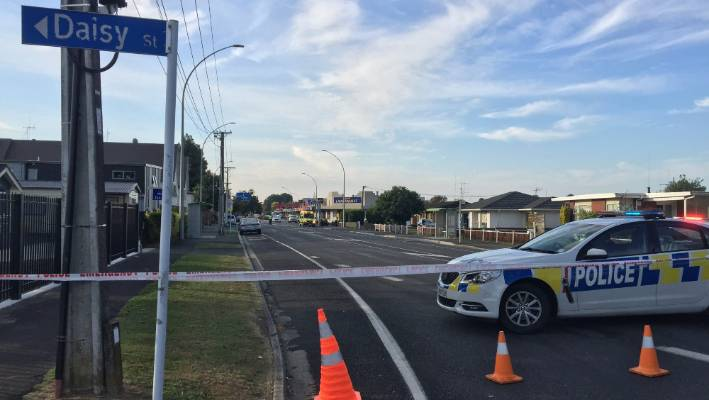 Police cordoned off the Hamilton-Pichgrove Road site after a serious accident.