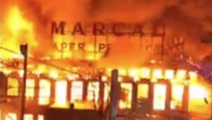 Multi-Alarm Fire Tears Through Marcal Paper Plant in Elmwood