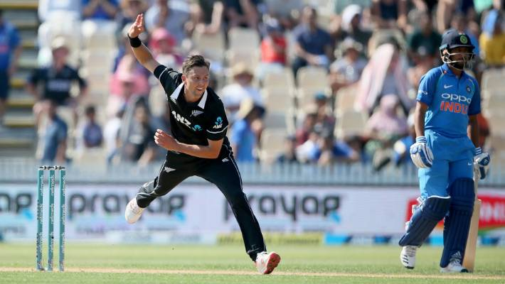 Trent Boult & # 39; s 5-21 spearhead New Zealand for a big win over India at Seddon Park in Hamilton.