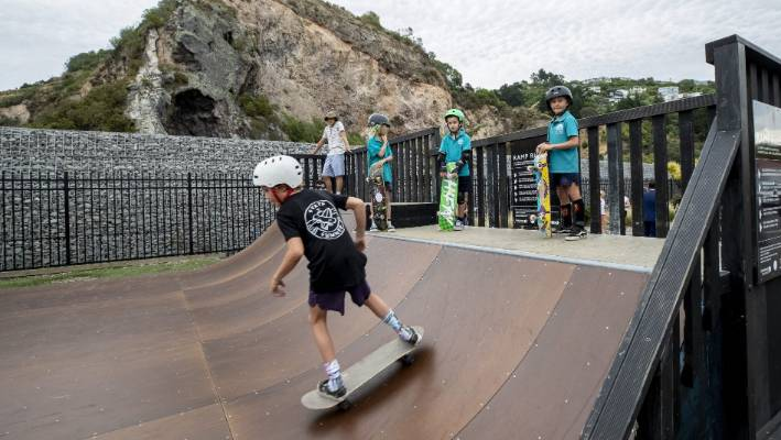 Skaters currently use a ramp built by the community on the corner of the streets of Wakefield and Nayland.