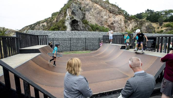 A permanent park of skates will be created in Sumner during the 2020-21 exercise. Half of the city council budget will be used to protect against rocks from the cliff above the site.