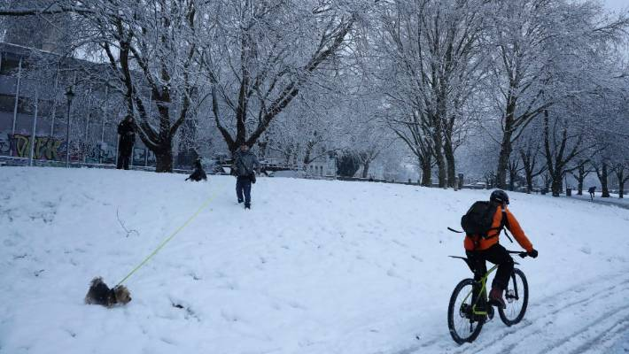South west England has seen the worst of the snow so far