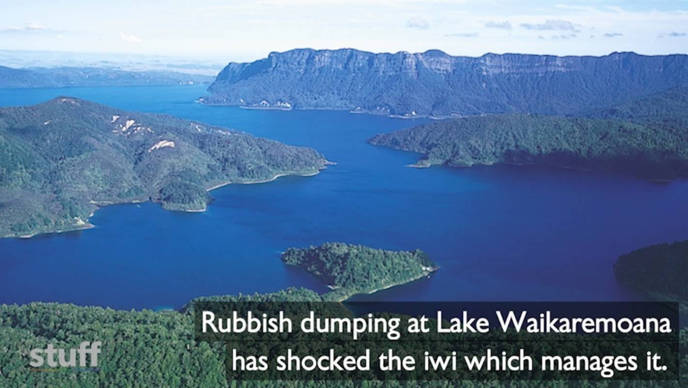 Visitors have trashed one of New Zealand's most scenic lakes