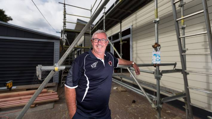 Sam Bennett is impressed with the progress with his home renovations after some uncertain times when the former owner of Fowler Homes Taranaki, Lauchlan McMillan, was caught in a drug operation and his company went bust.
