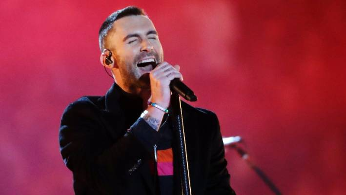 Adam Levine frees nipple at Super Bowl 15 years after Janet Jackson