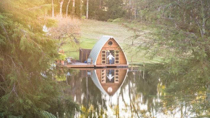 The 'ark' at Cottle Hill Creek is an off-grid glamping escape.