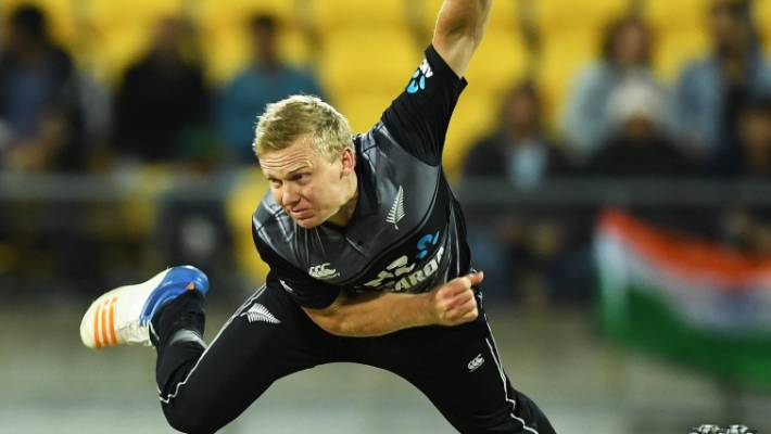 Scott Kuggeleijn played for the Black Caps against India at Westpac Stadium on  Waitangi Day.