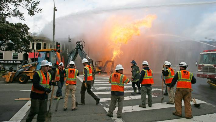 San Francisco gas explosion burns through buildings, forcing evacuations