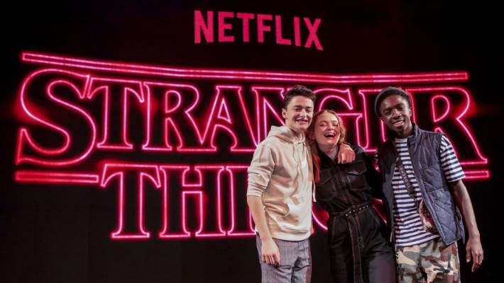Spotify is in a similar place to the Netflix network a few years ago, before starting its own performances as Stranger's items by Noah Schnapp, Sadie Sink and Caleb McLaughlin.