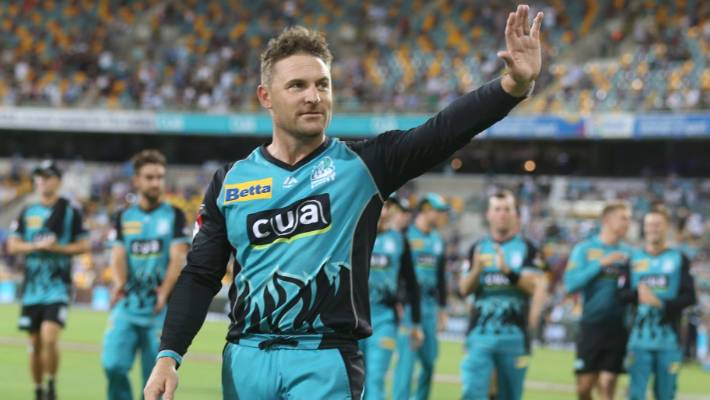 Brendon McCullum of the Heat will walk after he has been traveling. his last home game to play on Friday at Brisbane.