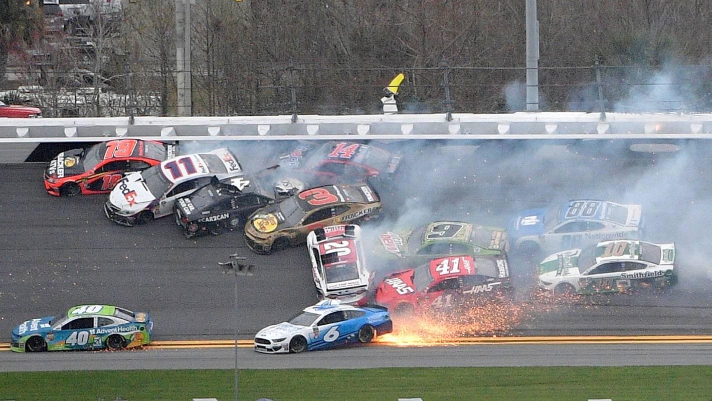 NASCAR driver says 'all hell broke loose' in monster crash