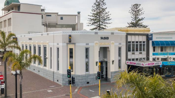 ASB Bank is in the heart of Napier's art deco district on the corner of Hastings and Emerson streets.